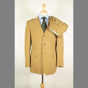 Ermenegildo Zegna 40R 33x32 Flat Beige Suit 97-E